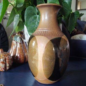 Pottery Craft USA Stoneware Dip Glaze Vase Robert